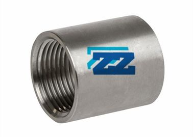 "Forged Steel Pipe Coupling Fitting , BSPP 3 / 4 "" SS316L Metal Pipe Fittings"
