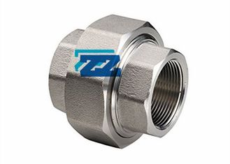 "NPT 1 1 / 4 "" Forged Steel Unions , ASTM A182 F321 Threaded Pipe Fittings"