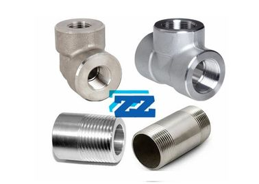 "High Pressure Threaded Pipe Fittings  3"" 3000LB Stainless Steel Material"
