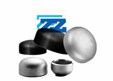 ASTM A420 WPL6 Steel Pipe Caps ASME B16 9 Black Color For Natural Gas / Chemical