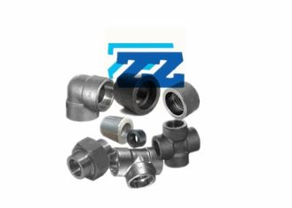 Carbon Steel Galvanized Steel Pipe Fittings , Socket Weld Forged Steel Fittings Class 3000
