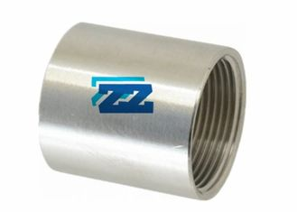 BSP Stainless Steel Threaded Coupling , 1 / 2 Inch 3000 LB Threaded Steel Pipe Fittings