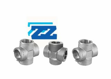Stainless Steel Pipe Cross Socket Weld Pipe Fittings ASTM A182 F304 ASME B16 11