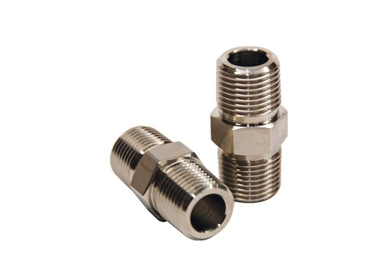 "China NPT Threaded Alloy Steel Pipe Fittings Alloy Steel A182 F12 3 / 4"" Hex Nipple supplier"