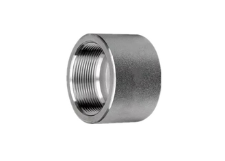 BSPP Stainless Steel Threaded Cap 6000LB ASME B16.11 Pipe Fittings Lightweight