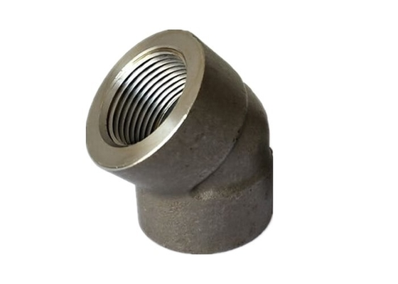 High Strength 45 Degree Elbow Carbon Steel Pipe Fittings NPT A350 LF2 Material