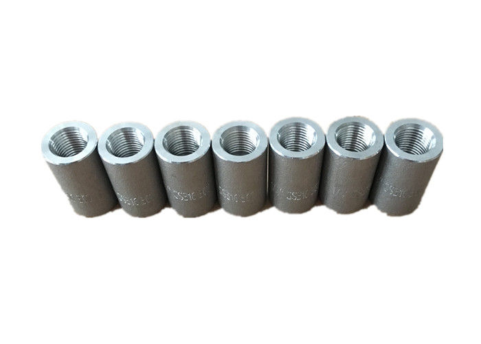 "Duplex 3 / 8 "" Steel Tube Couplings , BSPP ASTM A182 F55 Class 6000 Pipe Fittings ASME B16 11"
