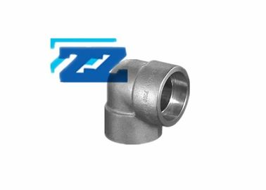 "China 90 Degree Socket Weld 	Steel Pipe Elbow 3 "" 6000 LB SS 316 ASME B16 11 Galvanized factory"