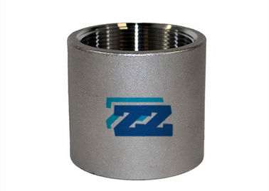 China BSP Stainless Steel Threaded Coupling , 1 / 2 Inch 3000 LB Threaded Steel Pipe Fittings factory