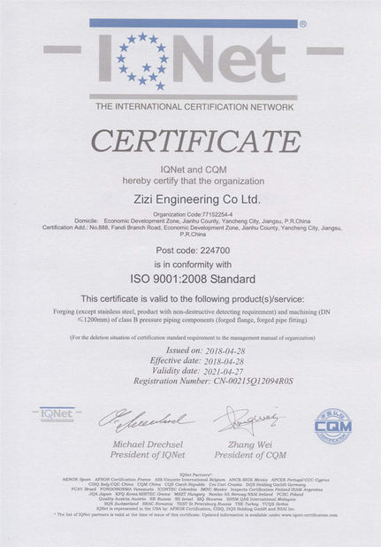 China ZIZI ENGINEERING CO.,LTD Certifications